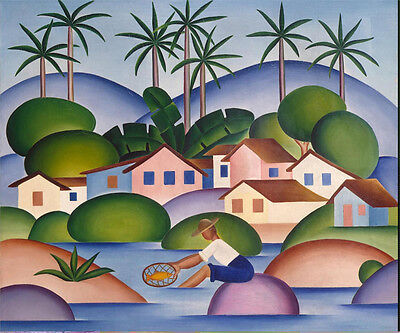Купить An Angler  by Tarsila do Amaral  Giclee Canvas Print Repro