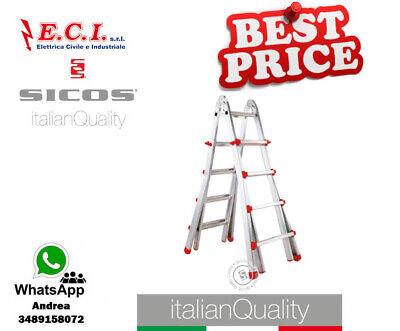 SICOS 145.300L - Ius Escalera Profesional Telescópico de Aluminio Extruido 3+3