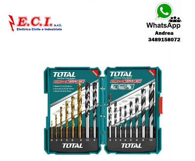 Total TACSD6165 Set 16pz Consejos Taladro Metal Hormigón Y Elgno