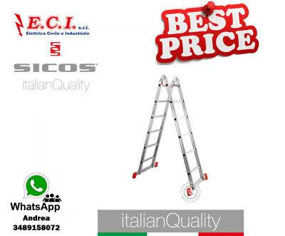 SICOS 150.255 - Chrono Escalera Profesional Telescópico de Aluminio Extruido 5+5