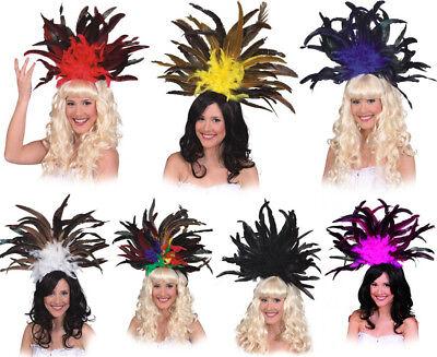 Orl - Samba Federschmuck zu sexy Tänzerin Kostüm Karneval - Samba Tänzerin Kostüm