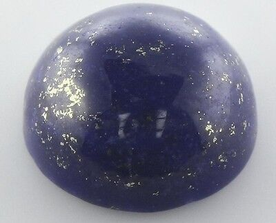 10mm ROUND CABOCHON-CUT ROYAL-BLUE WITH GOLD FLECKS NATURAL LAPIS LAZULI £1 NR!
