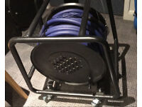mulitcore stagebox cable reel 30m 16/4