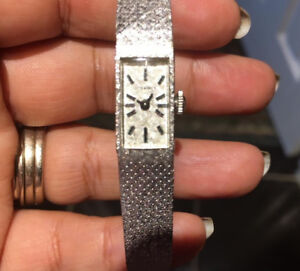 14K SOLID  White Gold  LONGINES Watch with Perfect Condition