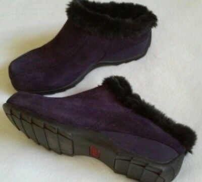 Size 8.5M SPORTO Women's Purple Leather Suede Slip-On mules Shoes