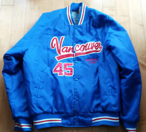 Vancouver Canadians Game used Baseball warm up jacket 1980's