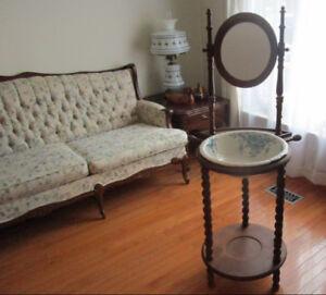 Antique solid cedar washstand 4 sale