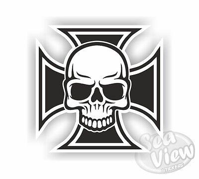 Skull Iron Cross Car Van Stickers Sticker Decal Funny Sticker