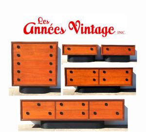 MEUBLES Vintage 1960 Teck Teak Furniture Dresser