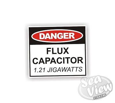 Flux Capacitor Fun Humour Car Van Stickers Decal Funny Bumper Sticker Label