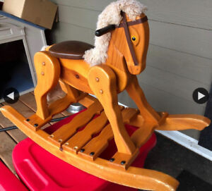 Rocking Horse (Solid Wood) EUC