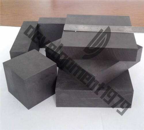 2pcs New High Purity 99.9% Graphite Ingot Block Sheet 50mm * 50mm * 20mm