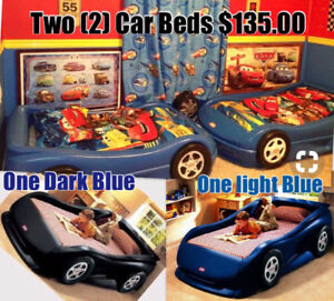 Two (2) Kids Car Beds for $135.00