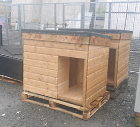 Large wooden dog kennels lift off roof