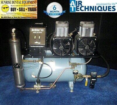 Air Techniques Air Star 30 - Dual Head Oil Less Dental Air Compressor 1.5hp 3