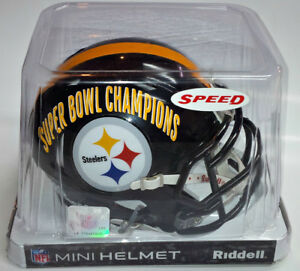 PITTSBURGH STEELERS SUPER BOWL CHAMPIONS NFL MINI HELMET