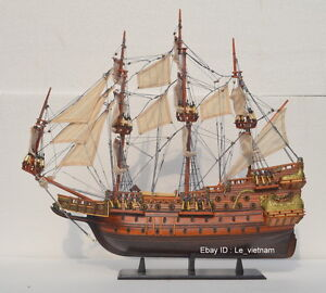 WA55 # Wasa Swedish Wooden Model Tall Ship Sailboat 22