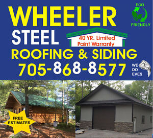 Steel Roofing, Siding, and Evestroughs