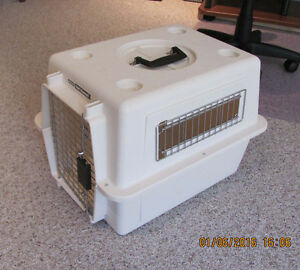 "PET CARRIER – For small Dog or Cat.  21""L x 16""W x 15"" H."