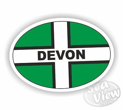 Devon Oval Sticker Stickers Flag Car Van Decal
