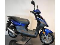 2014 64 SYM AV05W SYMPLY 50 MOPED SCOOTER BLUE TRADE SALE HPI CLEAR only 2K