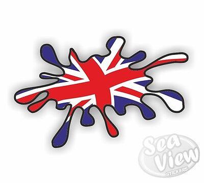 Union Jack Paint Splat Sticker Flag Car Van Decal Stickers