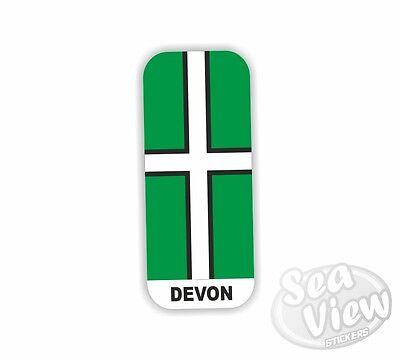 2 x Number Plate Sticker Devon Car Van Decal