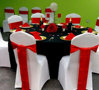 location decoration; housses, nappes, boucles, napkin. charger