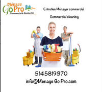Entretien menager commercial - commercial cleaning