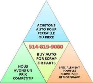 Gascon: Achetons Auto Pour Ferraille 514-815-9060