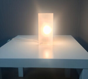 IKEA frosted glass grono lamp