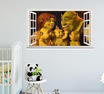 Shrek family Fiona cartoon window wall sticker art decal (Shrek Wall Decals)