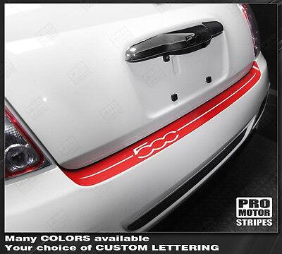 Fiat 500 Sport Rear Bumper Top Highlight Stripe Decal 2012 2013 2014 - Top Decal