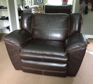 La-Z-Boy Recliner Leather Chair and a Half