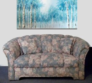 SET DE SALON floral fauteuil causeuse sofa divan