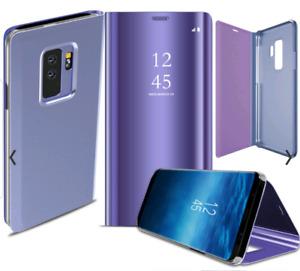 Samsung Galaxy S9 plus Smart Clear View Mirror Leather Flip Case