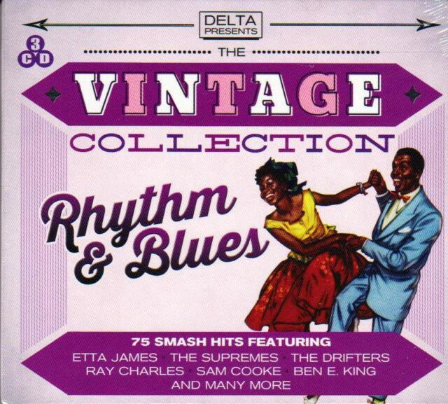 THE VINTAGE COLLECTION - RHYTHM & BLUES - 75 SMASH HITS (NEW SEALED 3CD)