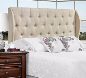 UPHOLSTERED FABRIC HEADBOARD - ON SALE