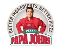 Papa Johns Pizza Instore Team Members and Delivery Drivers wanted