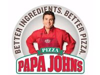 Papa John's Pizza Delivery Driver-Moped Driver Car Driver