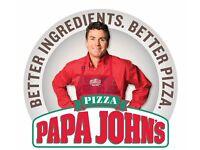 Papa Johns Pizza Instore Team Member