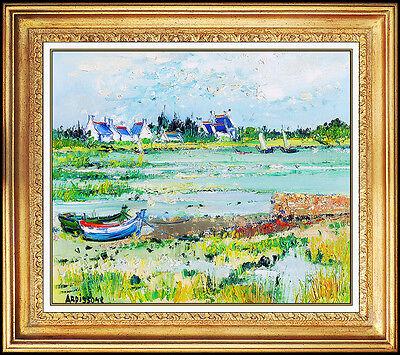 Yolande Ardissone OIL PAINTING ON Canvas Original Signed Landscape Authentic Art