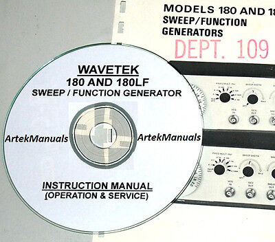 Wavetek 180 180lf Sweep Function Generator Operating Service Manual