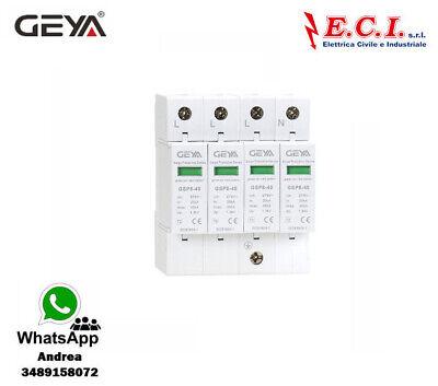 GEYA Descargador Rayo Sobre Voltaje 4Polos T2 4P SPD AC 40KA Quadripolare