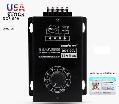 Dc Motor Speed Regulator 6v-90v Pwm 15a Digital Controller Switch Display Us