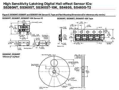 Honeywell Hall Effect Sensor ... Ss360nt