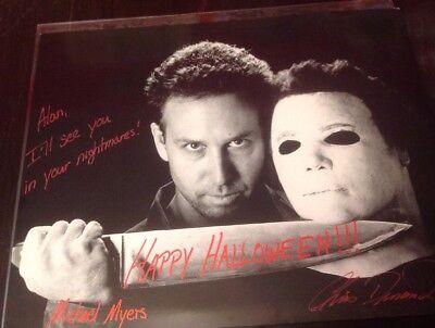 Autograph Halloween Chris Durand Stunt Man H20 Creepy Photo