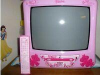 pink Barbie Tv & DVD