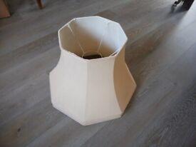 Bell shape pale peach lamp shade