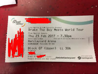 Drake ticket Birmingham Thursday 23/02/17 LAST CHANCE